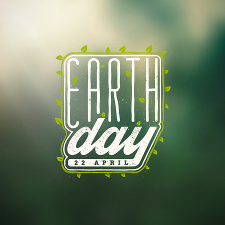 Earth Day, 22 april Vector