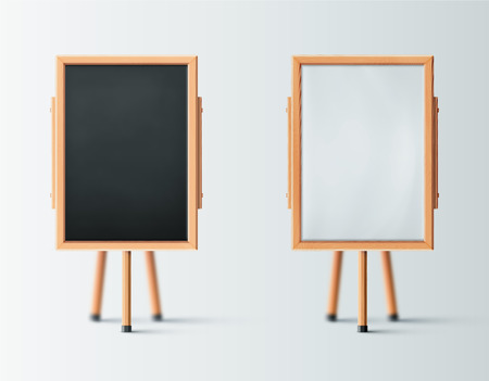 Two wooden easel, blank board, eps 10