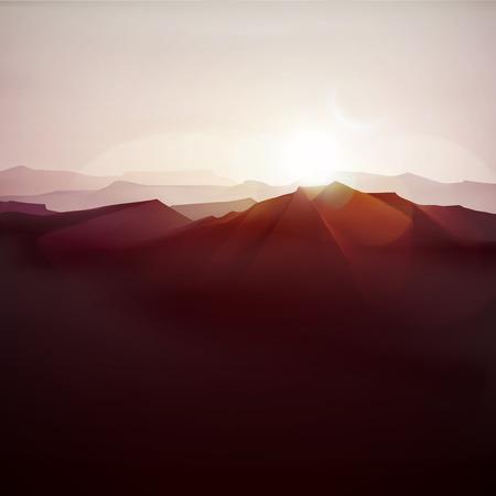 Mountain landscape, nature background, eps 10