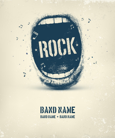 Rock music poster, eps 10  イラスト・ベクター素材