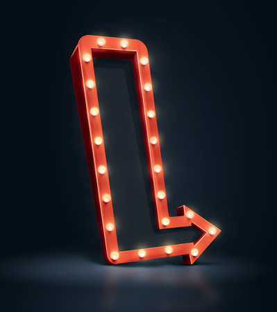 3D arrow with space for text.