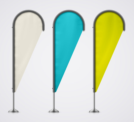 teardrop: Set of color banner flags.