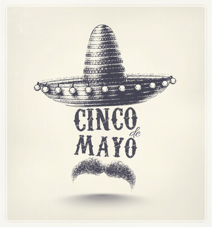 fond de texte: Cinco De Mayo, affiche de vacances Illustration