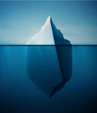 iceberg: Ice berg on water concept vector background