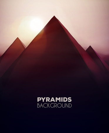 Abstract pyramids background,