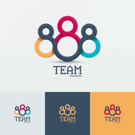 business teamwork: Concept icon, business team