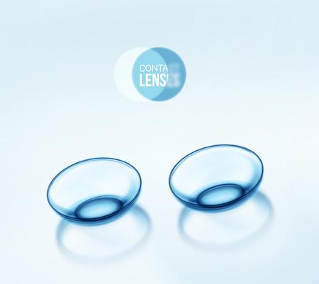 分離のコンタクト レンズ  イラスト・ベクター素材