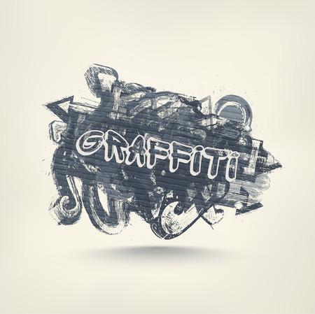 Graffiti umění, abstraktní grunge banner