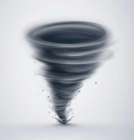 strong wind: Isolated dark tornado Illustration