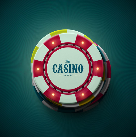 poker chips: Casino chips, top view