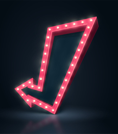 3D šipku banner Ilustrace