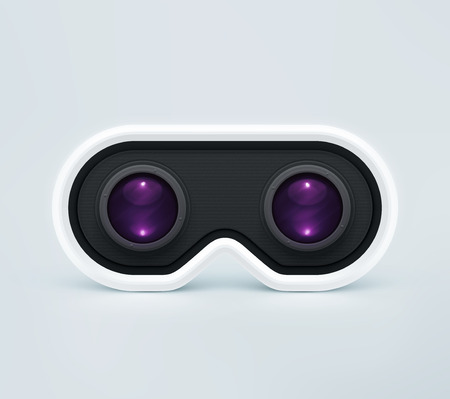 Head-mounted display, virtual reality headset Illustration