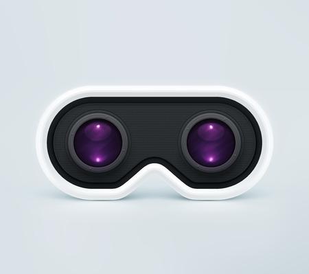 Head-mounted display, virtual reality headset Vettoriali
