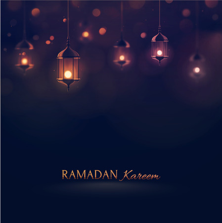 Ramadan Kareem, greeting background  矢量图像
