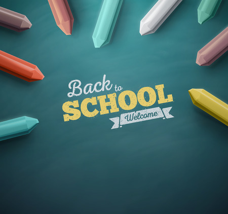 blackboard background: Welcome back to school, eps 10