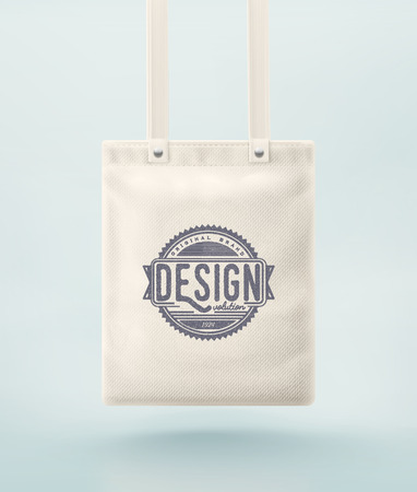 mockup: Tote bag for design,