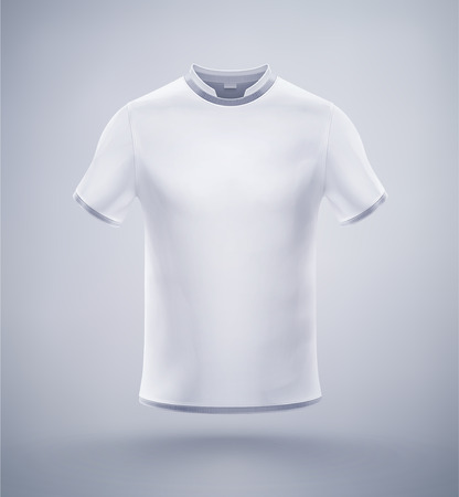 tshirts: White mens t-shirt, eps 10