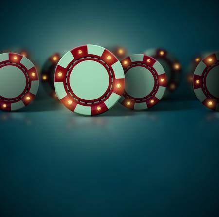 Conjunto de fichas de casino, eps 10 Vectores