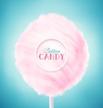 sweet food: Pink cotton candy, eps 10