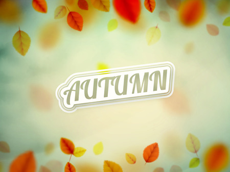 autumn sky: Hello autumn, nature background, eps 10 Illustration