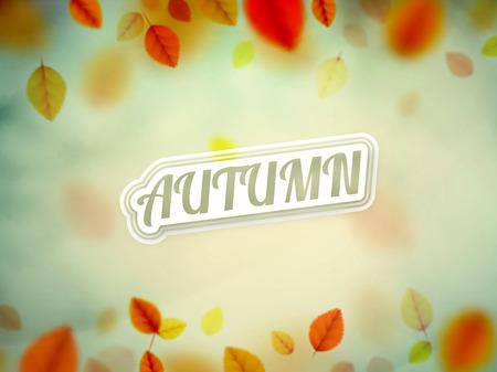 Autumn: Hola otoño, la naturaleza de fondo, EPS 10 Vectores