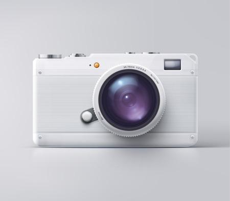 Izolované bílé kamera, eps 10 Ilustrace