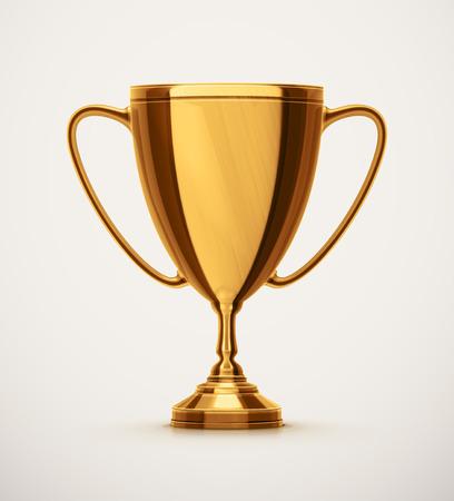 Izolované zlatý pohár, eps 10 Reklamní fotografie - 43327742
