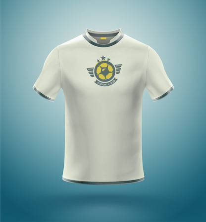 Isolated soccer t-shirt  Stock Illustratie