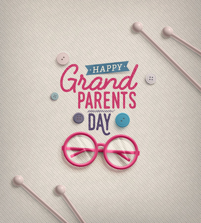 Grandparents Day, greeting card Stok Fotoğraf - 43876930
