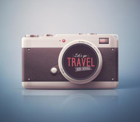 Retro-Kamera, lass uns gehen Reise