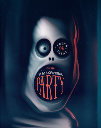 Halloween-Party, Grußkarte mit Monster,