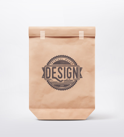 brown: Paper bag for design,
