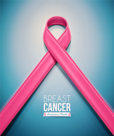 Pink ribbon, breast cancer awareness month,