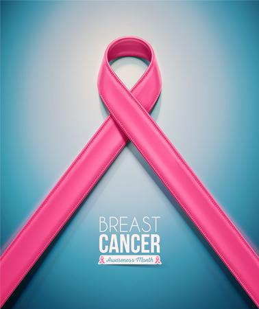 Pink Ribbon, povědomí o rakovině prsu měsíc, Reklamní fotografie - 46420777