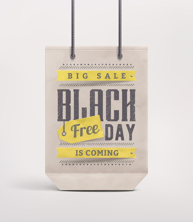 Sale bag, black friday, eps 10 Çizim