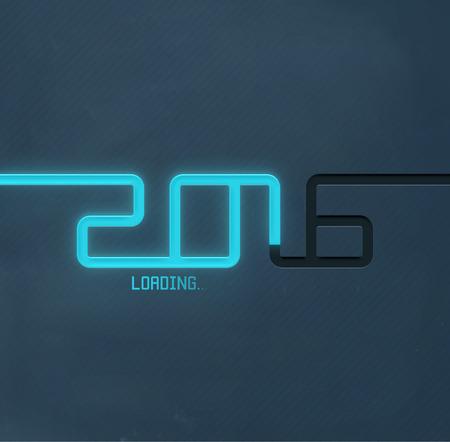 2016 Loading, Šťastný Nový Rok, eps 10