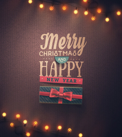 gift background: Merry Christmas and Happy New Year, eps 10
