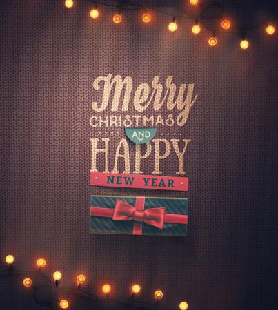 Veselé Vánoce a Šťastný Nový Rok, eps 10 Reklamní fotografie - 49115620