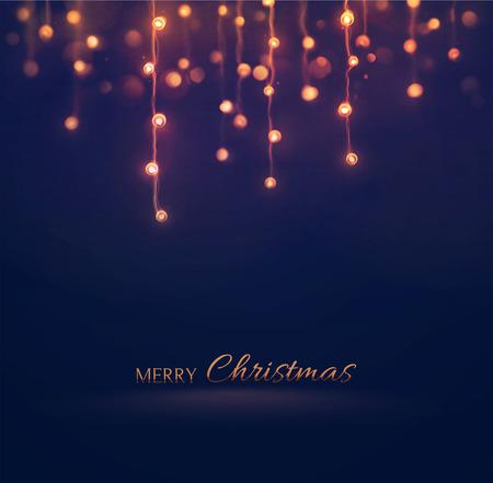 Vánoční světla, dovolená pozadí, eps 10 Ilustrace
