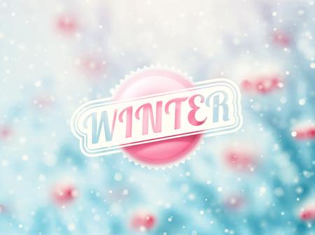 Zimní prázdniny pozadí, eps 10