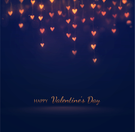 Happy Valentines Day, greeting card, eps 10