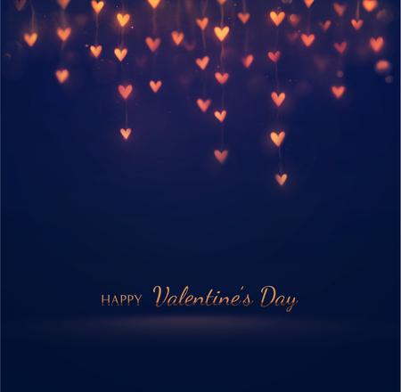 Happy Valentinstag, Grußkarte, eps 10