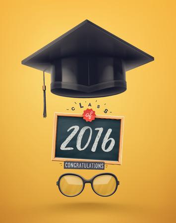 Class of 2016, graduation, Vettoriali