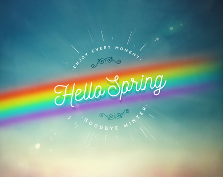 Hello spring, nature background,
