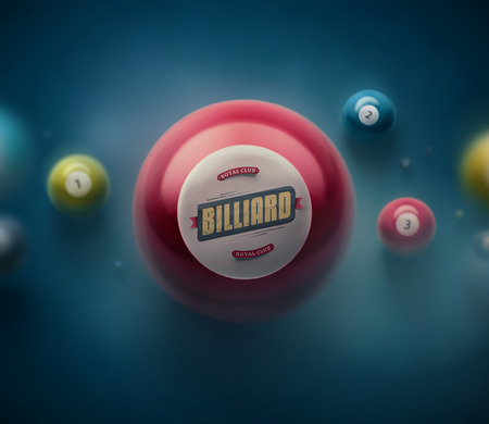 Colorful billiard balls