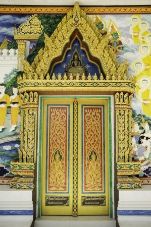 ordinate: Door of Buddha Stock Photo