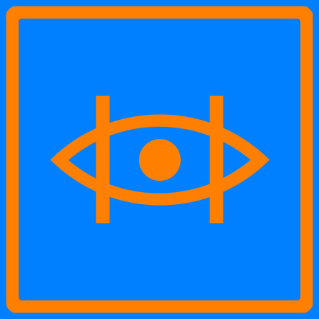 A proposed logo for people affected by Retinitis Pigmentosa. The logo signifies the limited peripheral vision and can be used as a sticker or printed to be used as an ID so people affected can alert those around them by hanging the card on their bodies when possible. Vectores