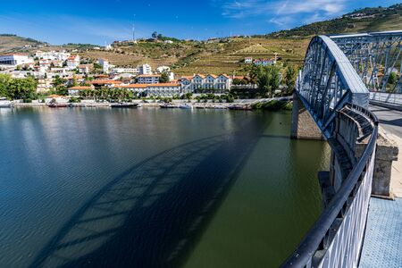 Morning view of Pinhao from across the bridge over the Douro River.