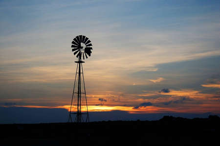 west texas: windmill in west of texas