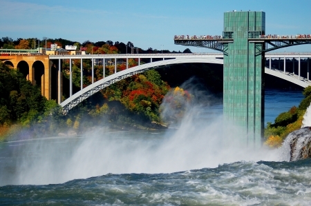 rainbow bridge: niagara falls and rainbow bridge Editorial